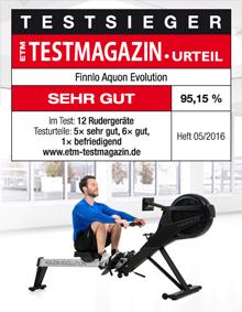 FINNLO by HAMMER Rudergerät Aquon Evolution ist ETM Testsieger Ausgabe 05/2016